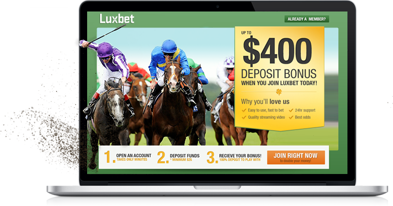 A screenshot of the Luxbet website